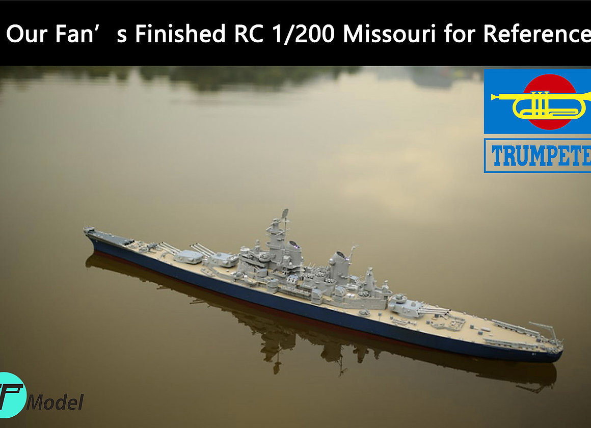 Trumpeter 1/200 Missouri Battleship Brass RC Upgrade Kit | rcship