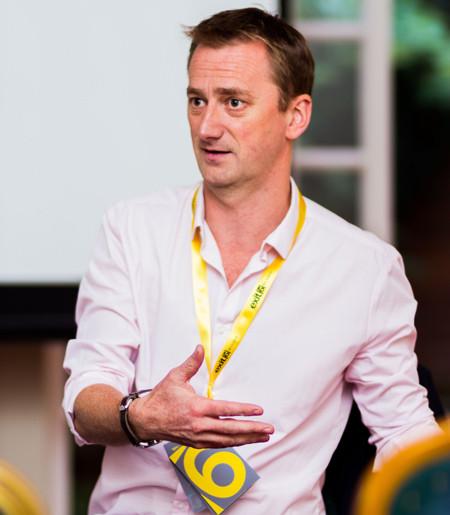 Stewart speaking at Exit 6 2017