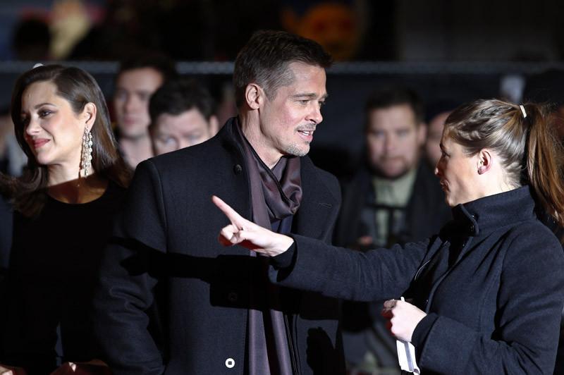Matty directing Brad Pitt.