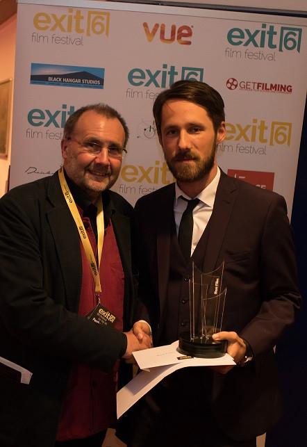 Terry Bamber presents Best Film award to Denis Dobrovoda