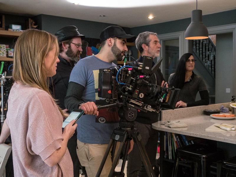 Federico shoots alongside director David Jackson