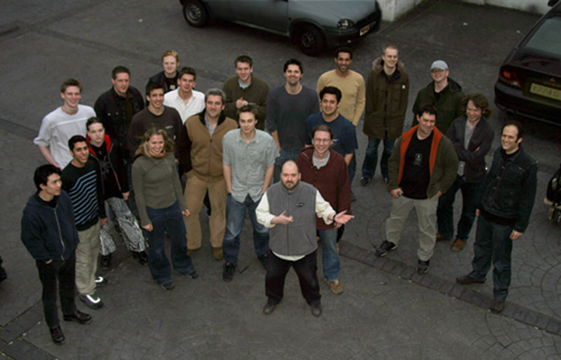 Dave McKean (front) with his CG Team