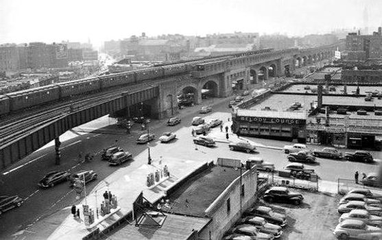Queens Boulevard and 48th Street  1950 l