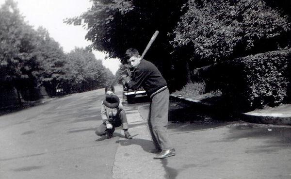 Bob at Bat 1950.JPG