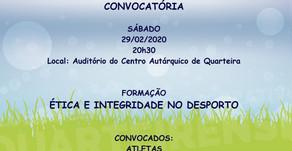 Ação Ética e Integridade 29/02/2020