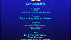 Acção Ética e Integridade no Desporto 12/10/2020