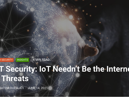 IoT Security: IoT Needn't Be the Internet of Threats