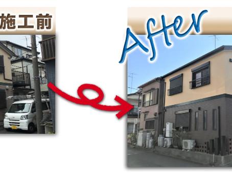 足立区新田で屋根外壁塗装工事!外壁は2色に分けての塗装事例、全工程をご紹介致します!