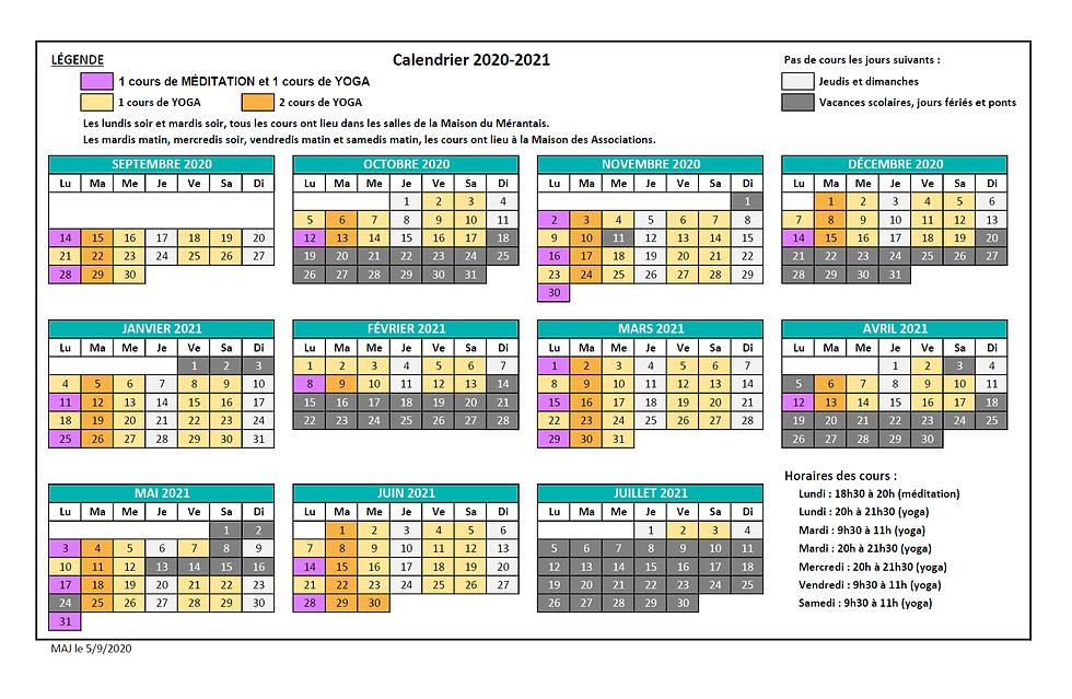 AVY_Calendrier cours 2020-2021 pour le s