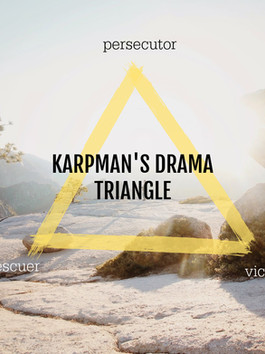 Karpman's Drama Triangle: round and round we go... if we choose to...