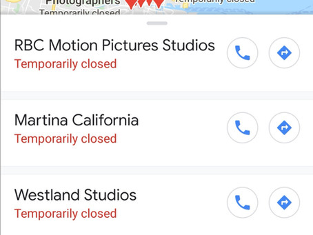 All Google businesses closed on Google maps temporarily