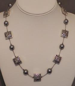 Swarovski Pearl & Silver #463