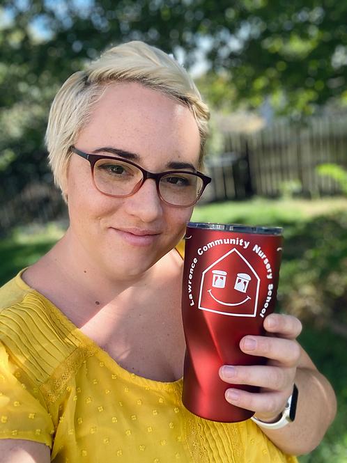 LCNS Love Grows Here Coffee Travel Mug