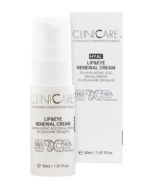 Clinicare Hyal+ Lip & Eye Renewal Cream