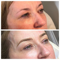 Microblading Kate's eyebrows - Kate want