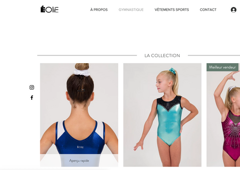 Site web - Éolie sportswear