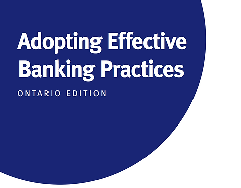 ON - Adopting Effective Banking Practices