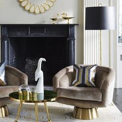 Velvet swivel armchairs | Belfast