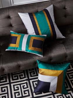 Silk | Geometric | Cushions