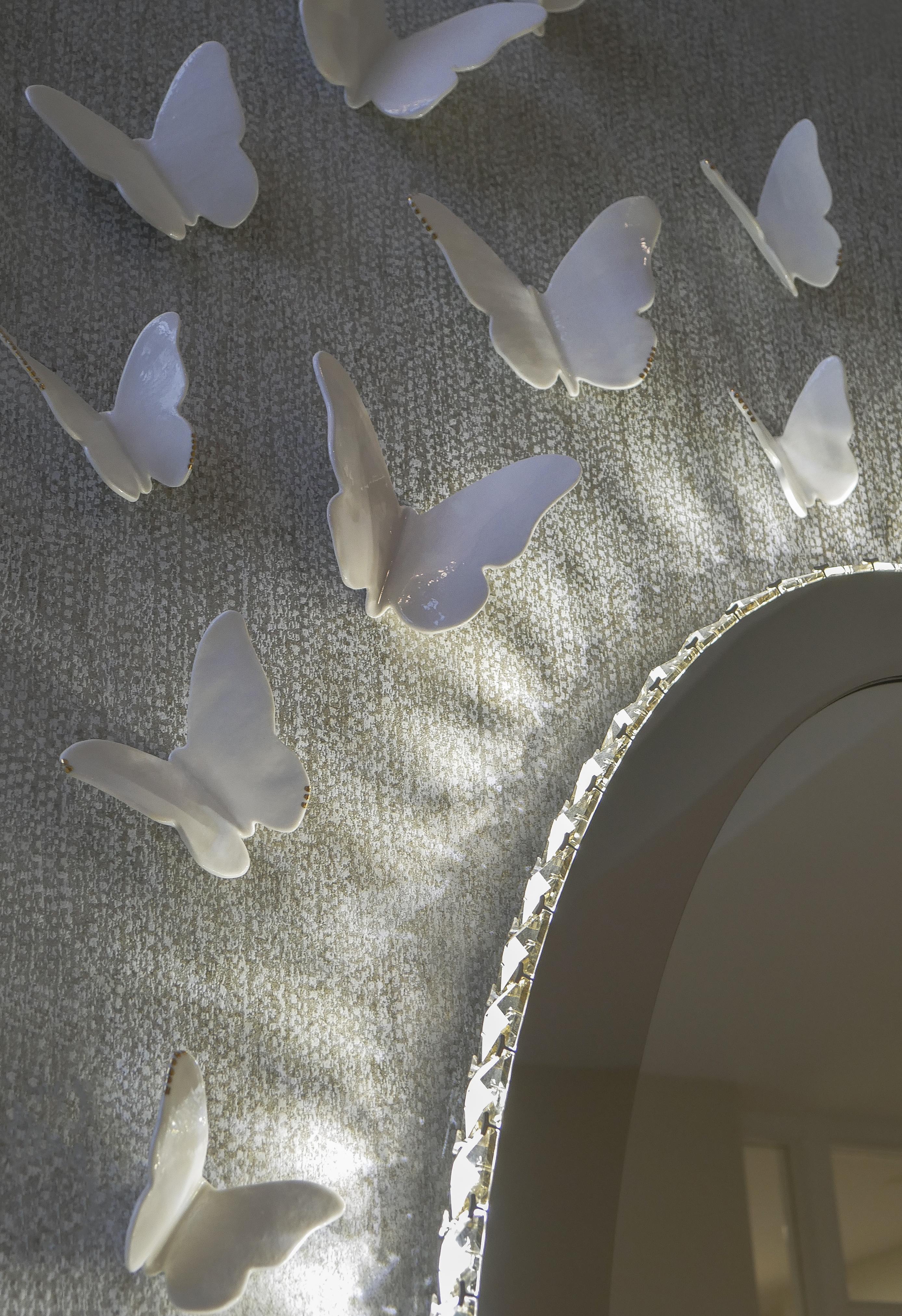 Porcelain Butterflies art instalatio