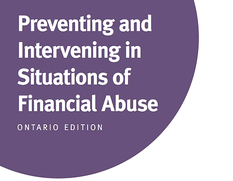 ON - Preventing and Intervening in Situations of Financial Abuse