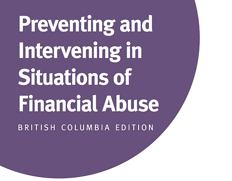 BC - Preventing and Intervening in Situations of Financial Abuse