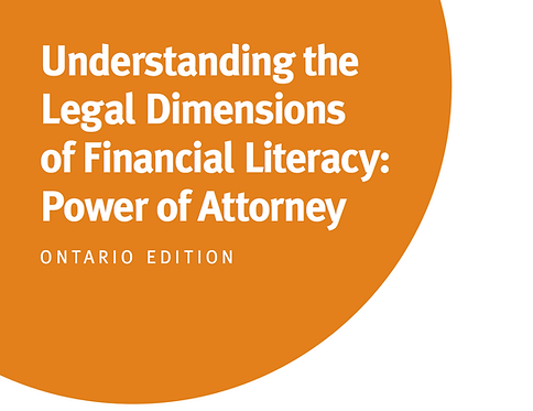 ON - Understanding the Legal Dimensions of Financial Literacy: Power of Attorney
