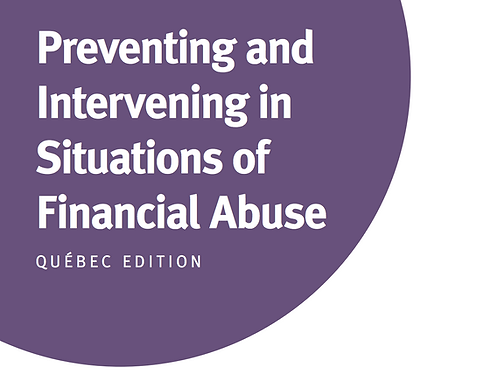 QC - Preventing and Intervening in Situations of Financial Abuse