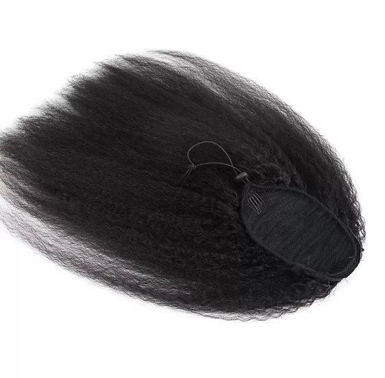 Peruvian Kinky Straight  Drawstring Ponytail
