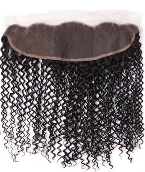 Malaysian Kinky Curly 13*4  Lace Frontal