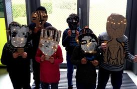 Masques lumineux à la ludothèque de Noisiel 14-03-19
