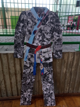 Collage sur Kimono