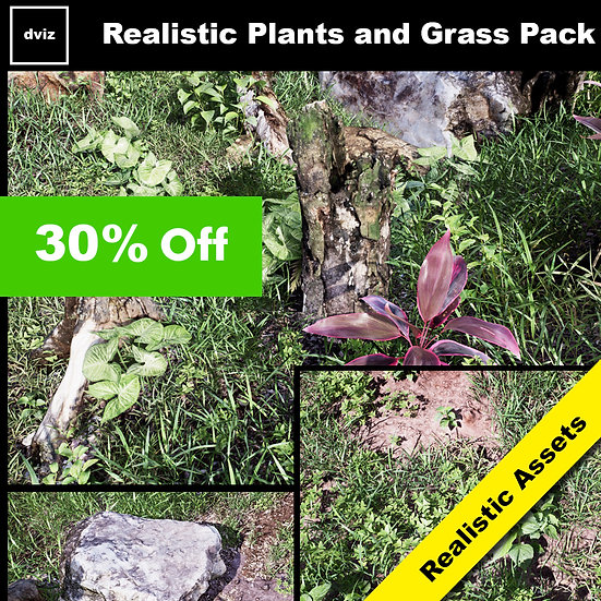 Realistic Plants and Grass Pack 02