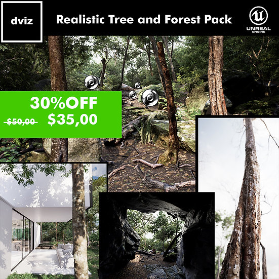 Realistic Tree and Forest Pack 02