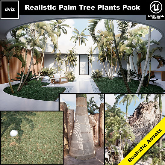 Realistic Palm Tree Pack 01