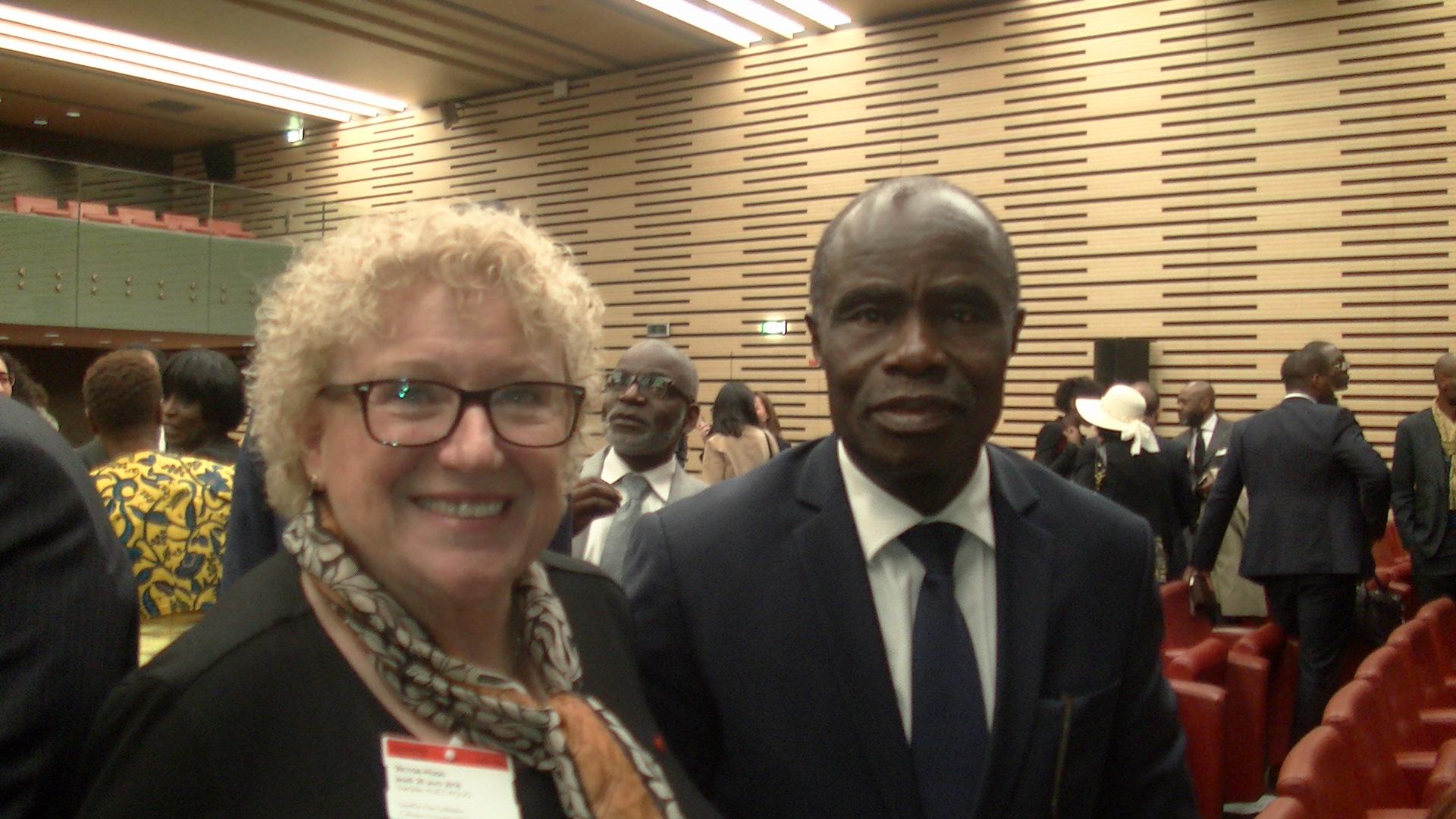 Avec Monsieur Sahi VOHO, ancien Ministre de la Culture de CI