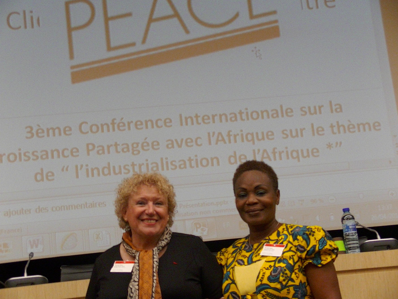 Danièle de DHK-SIP et Léontine de SCIAPP à la 3ème Conférence Internationale sur la Croissance Parta