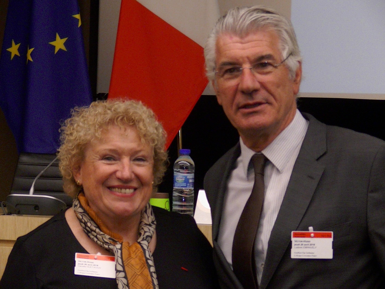 DHK avec le Président de l'ONG Croissance PEACE