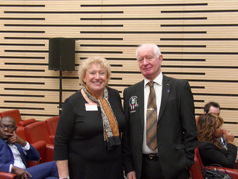 Avec le Président de la Ligue Universelle du Bien Public dont DHK est Commandeur
