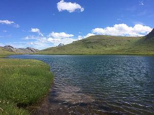lac Mézan dans le parc naturel du Queyras