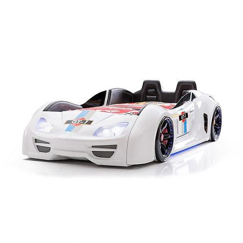 GT-1 渦輪酷炫賽車床-白天使 (含床墊)