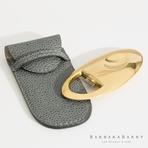 Gravitas Bottle Opener w/Leather Pouch (Barbara Barry Collection)