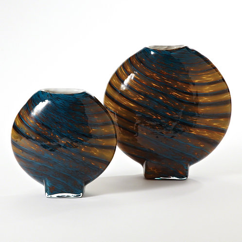 Cobalt Gold Swirl Vase (More Options)