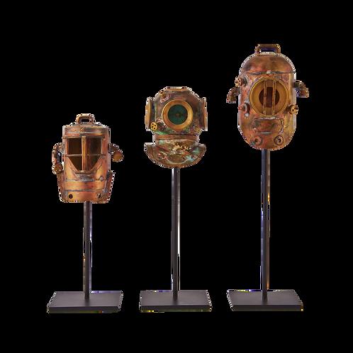 潛水伕頭盔模型 (Set of 3)