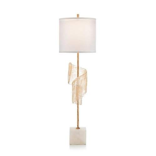 Furls with Hint of Gold Buffet Lamp