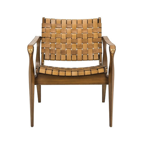 Dilan Leather Safari Chair 3