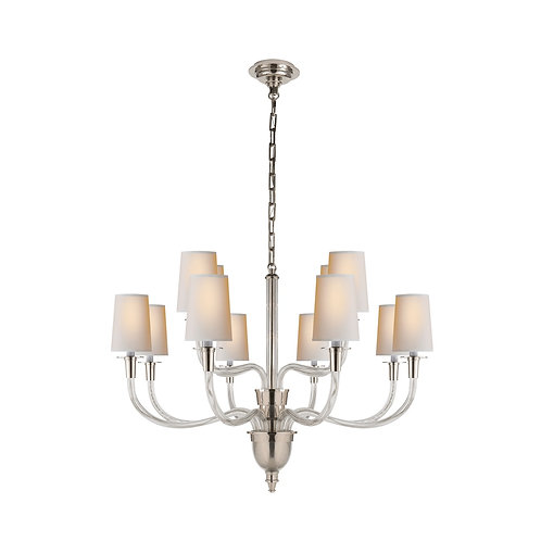 Vivian Large Two-Tier Chandelier (Thomas O'Brien Collection, More Options)