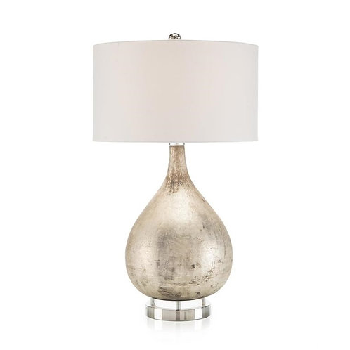 Weathered Silver Table Lamp
