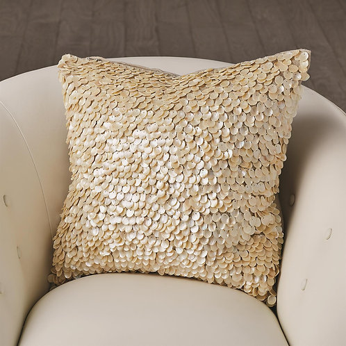 Mother of Pearl Beaded Pillow 2