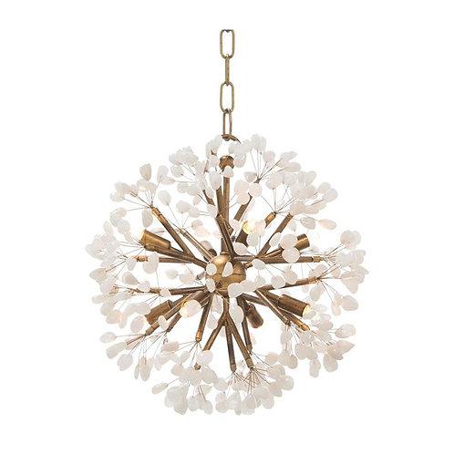 Quartz Crystal Spherical Chandelier